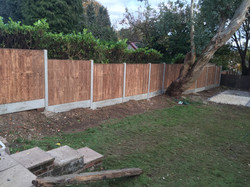 10 bays of fencing fitted