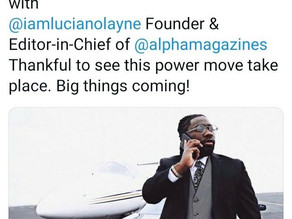 Luciano Layne, Editor in Chief of Alpha Magazine, Welcomed to Lamar Odom's Management Team