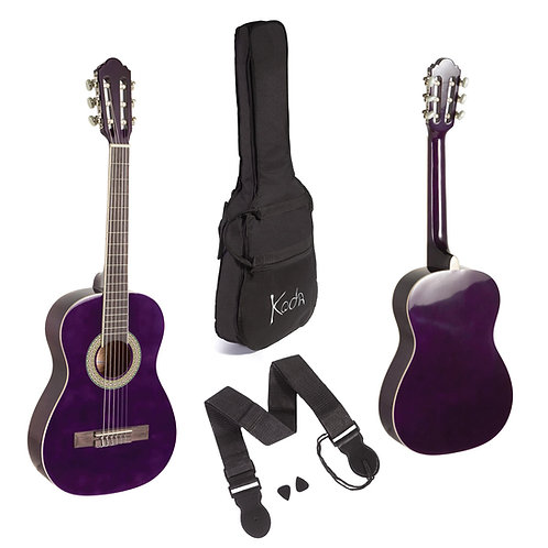 KODA CLASSICAL GUITAR PURPLE 1/2 PACK