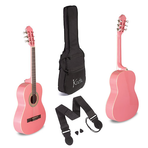KODA CLASSICAL GUITAR PINK 3/4 PACK