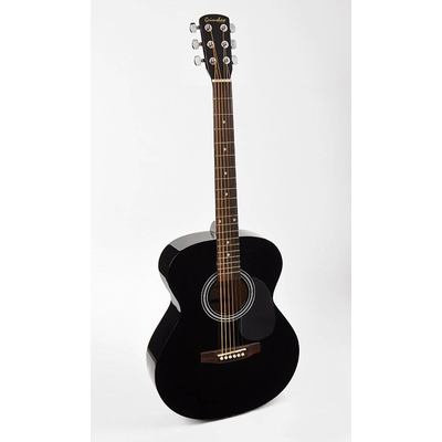 NASHVILLE ACOUSTIC GUITAR PACK BLACK FINISH