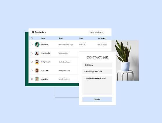 Twórz formularze, aby zbierać informacje o odwiedzających i ułatwiać im kontakt.
