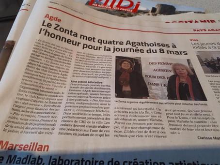 Midi-libre aujourd'hui ! Zonta Béziers Domitia