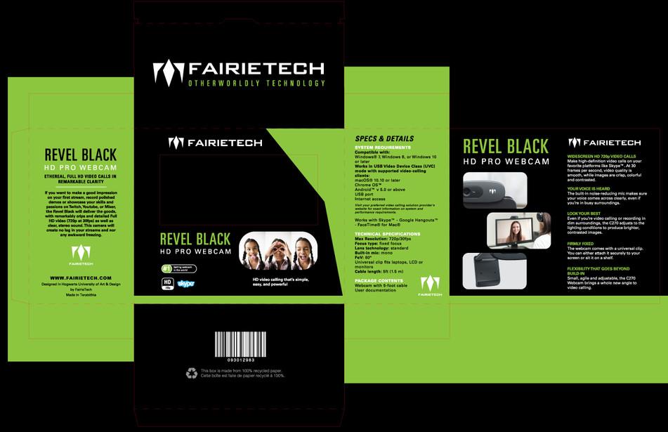 Revel Black HD Pro Webcam Proof