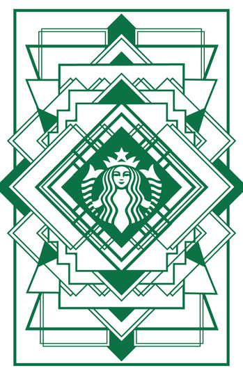 Starbucks Art Deco