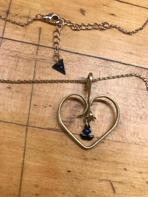 Heart Design Necklace Finished