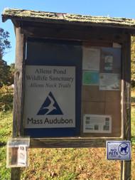 Allen's Pond Signage Post