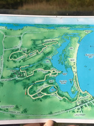 Old Map of Allen's Pond Trail