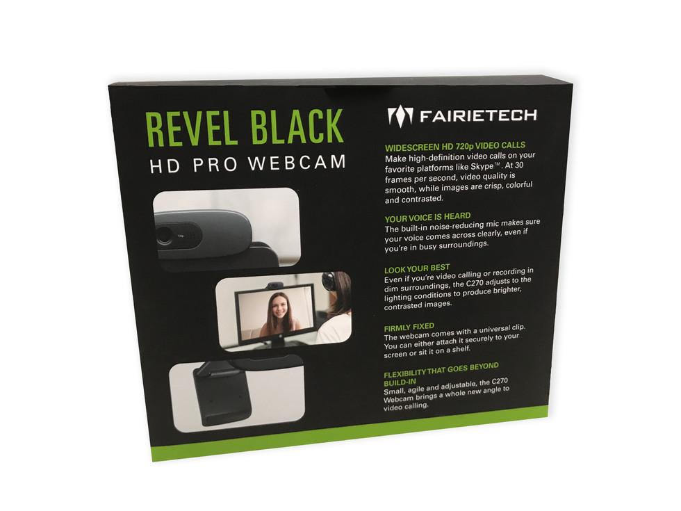 Revel Black HD Pro Webcam Back View