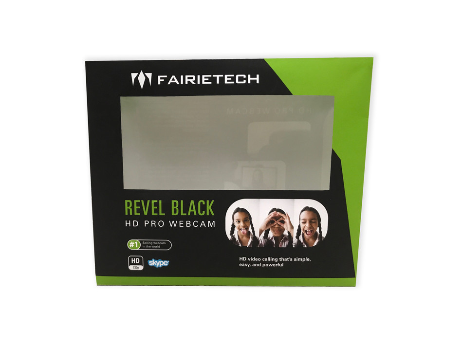 Revel Black HD Pro Webcam Front View