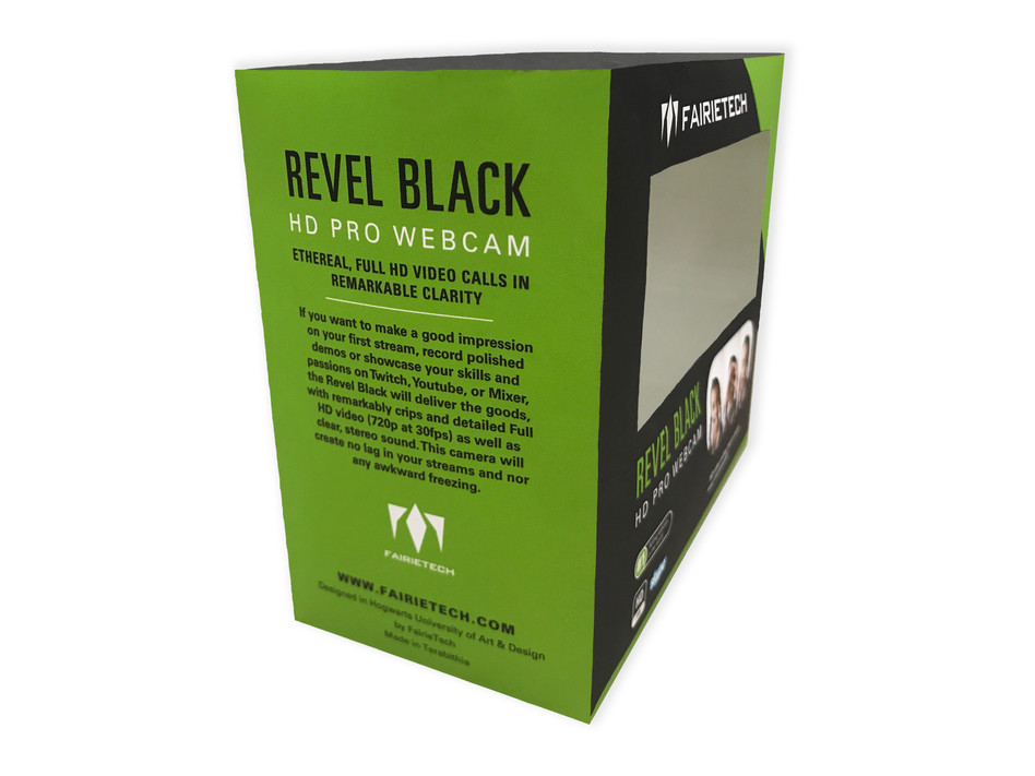 Revel Black HD Pro Webcam Side View