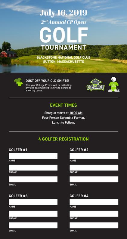 4 Person Golf Registration