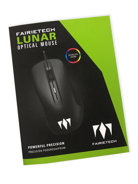 Lunar Optical Gaming Mouse Front View