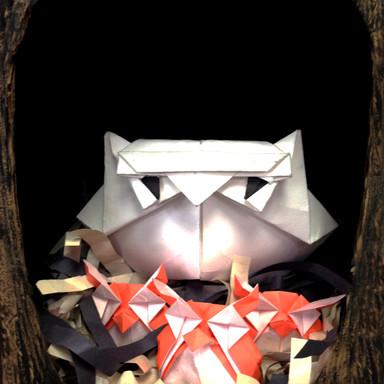 Oragami Owl Family
