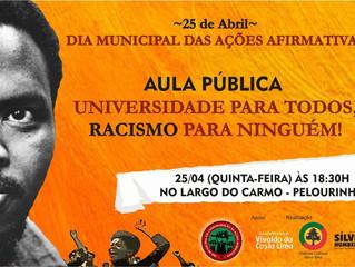Dia Municipal das Ações Afirmativas será celebrado com aula pública!
