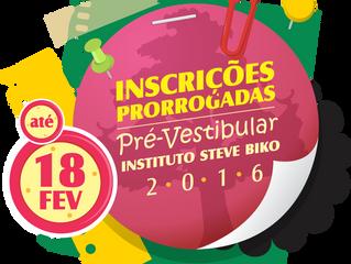 INSCRIÇÕES PRORROGADAS Seleção para o pré-vestibular inscreve até o dia 18 de fevereiro.