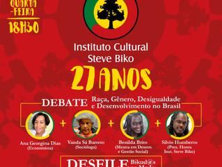 Instituto Steve Biko celebra 27 anos com palestra e desfile de empreendimentos negros!