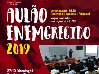 Instituto Steve Biko abre inscrições para Aulão ENEMgrecido 2019!