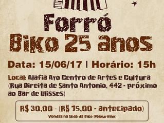 Instituto convida bikud@s e apoiador@s para o Forró Biko 25 anos!
