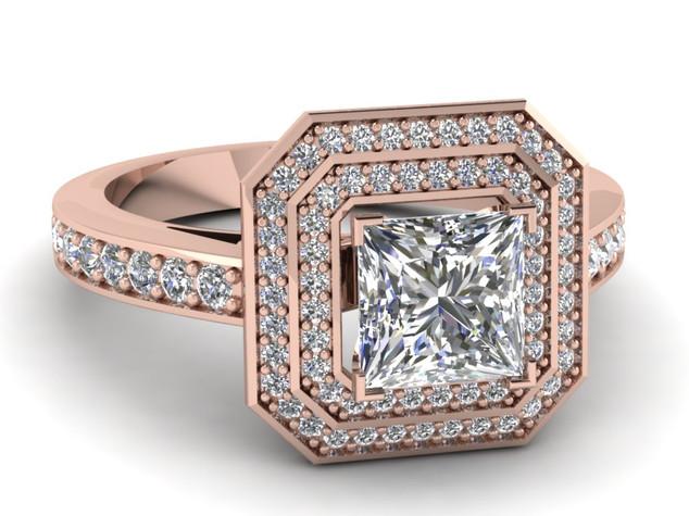 Pink gold princess diamond ring.jpg
