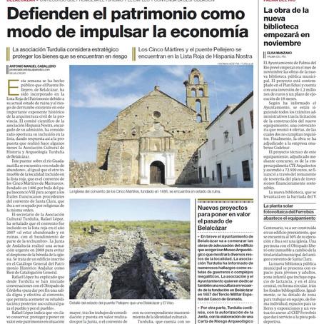 DIARIO CÓRDOBA 27/09/2021_Defienden el patrimonio como modo de impulsar la economía