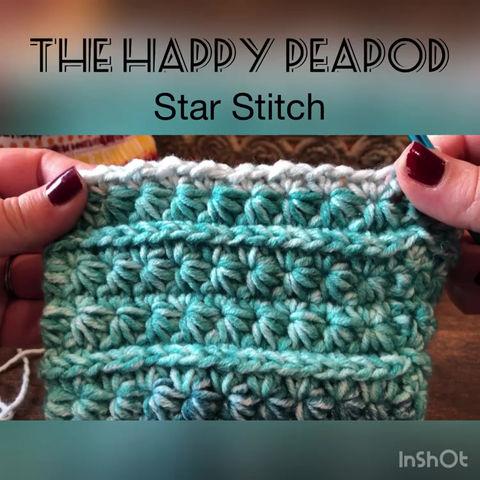 Crochet Star Stitch Video Tutorial and Written Instructions