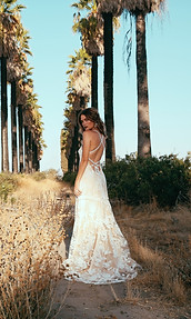 Chiffon Rose Gown