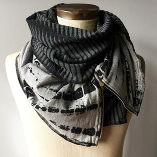 Jesrey Knit Zipped Scarfs