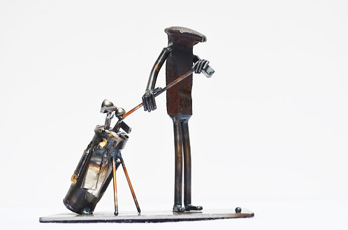 Golfer with bag