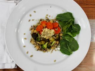 Chickpea & Quinoa Roasted Vegetable Salad