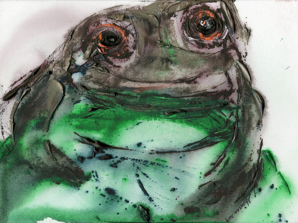"""Frog   15""""h x 20""""w   $450"""