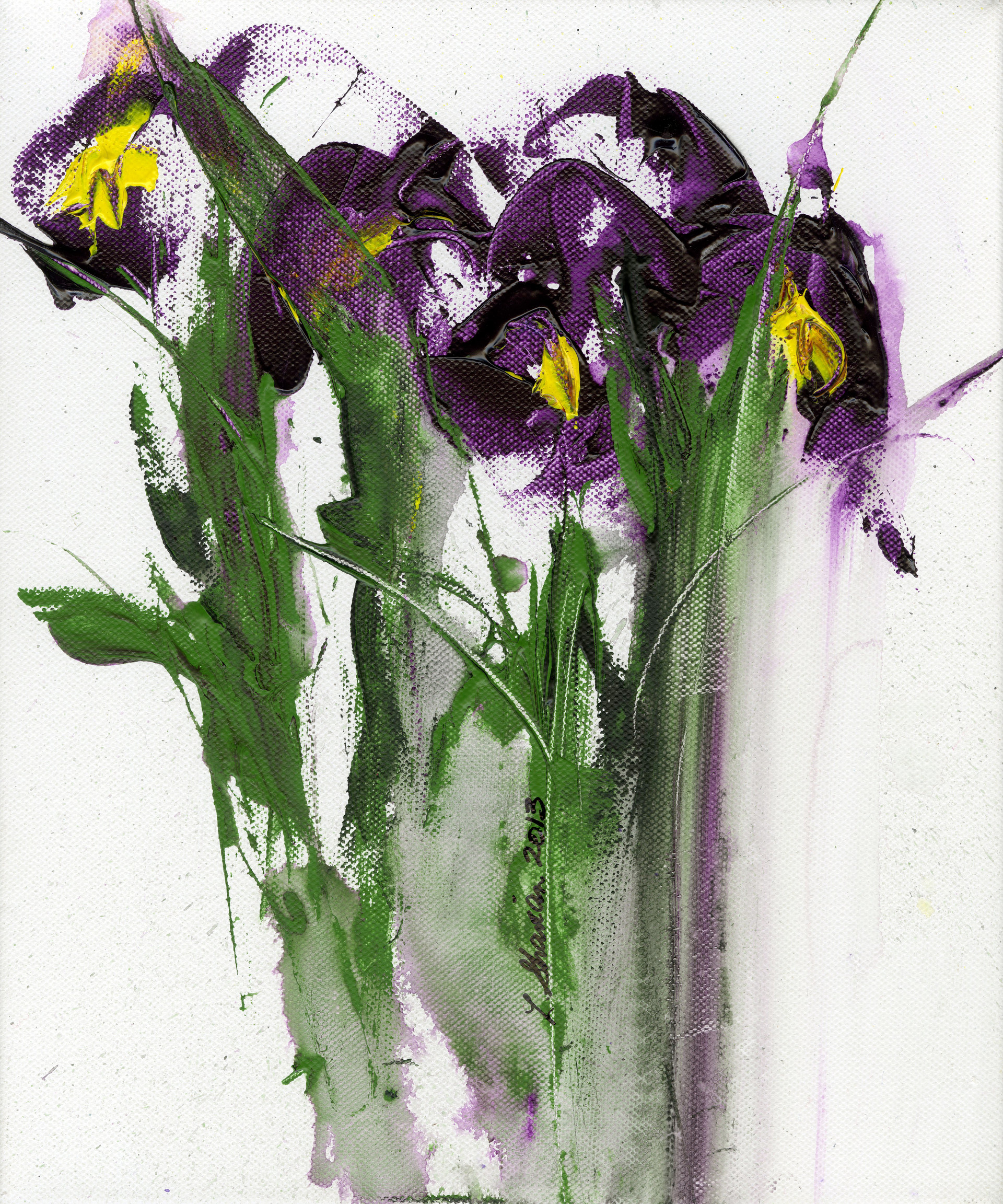 Regal Irises  15 x 18   $450