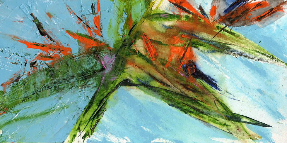 Birds of Paradise  36w x 18h $600