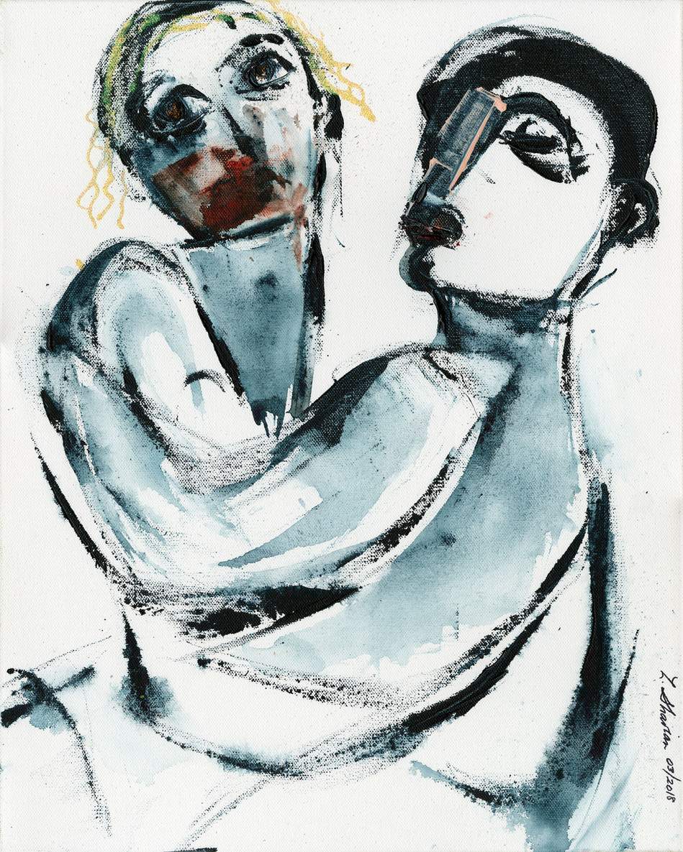 "The Birth of the Tango 16""w x 20""h $450"