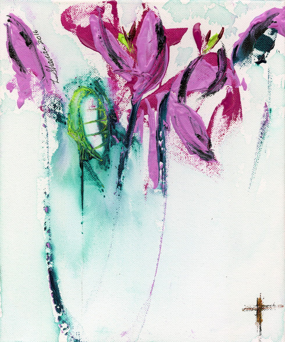 Lilies Abstract  15w x 18h  $450