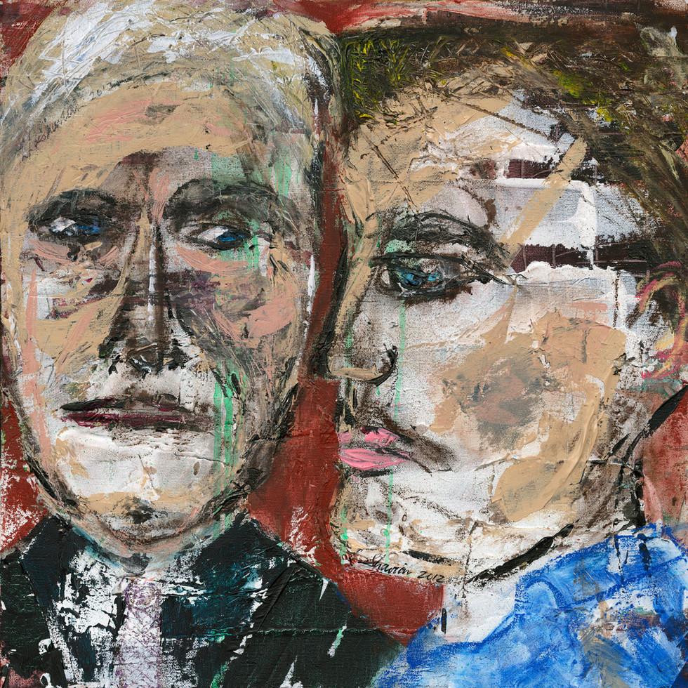 Clint Eastwood and Leonardo DiCaprio 18 x 18  $450