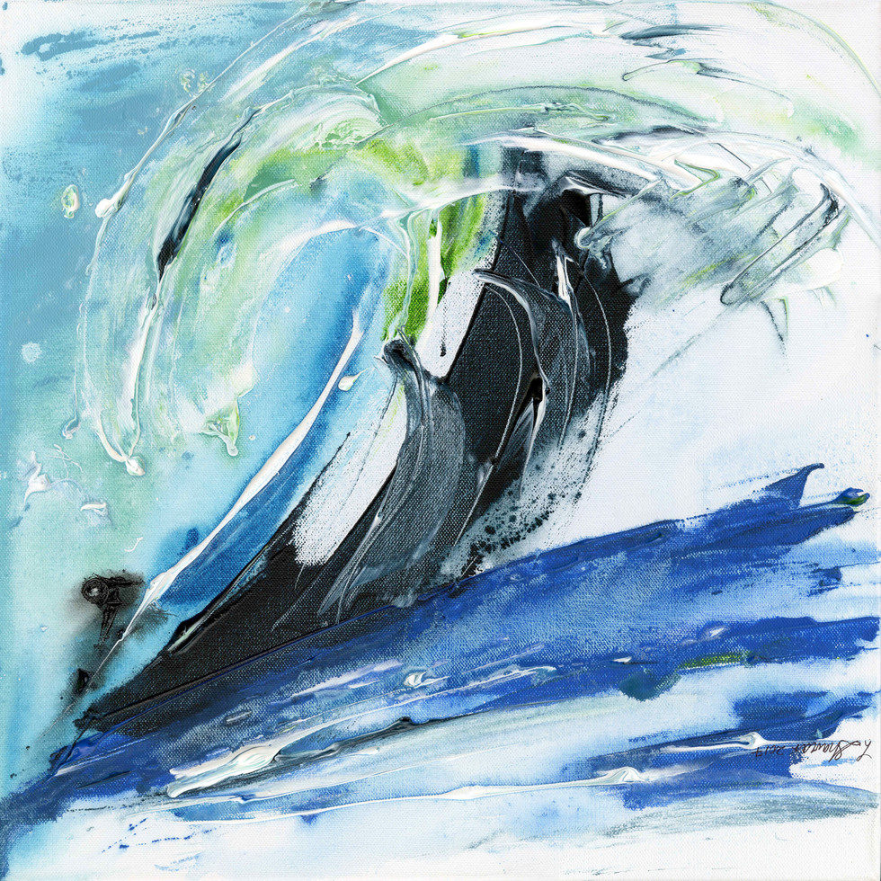 Surfing the Big One 24x24 $600