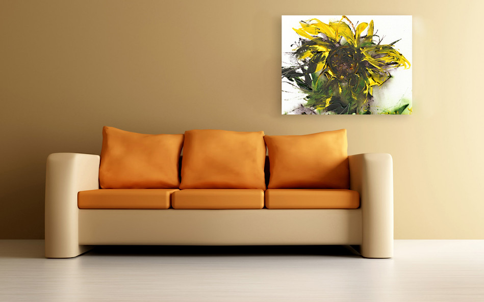 Flower of the Sun  18h x 24w $500