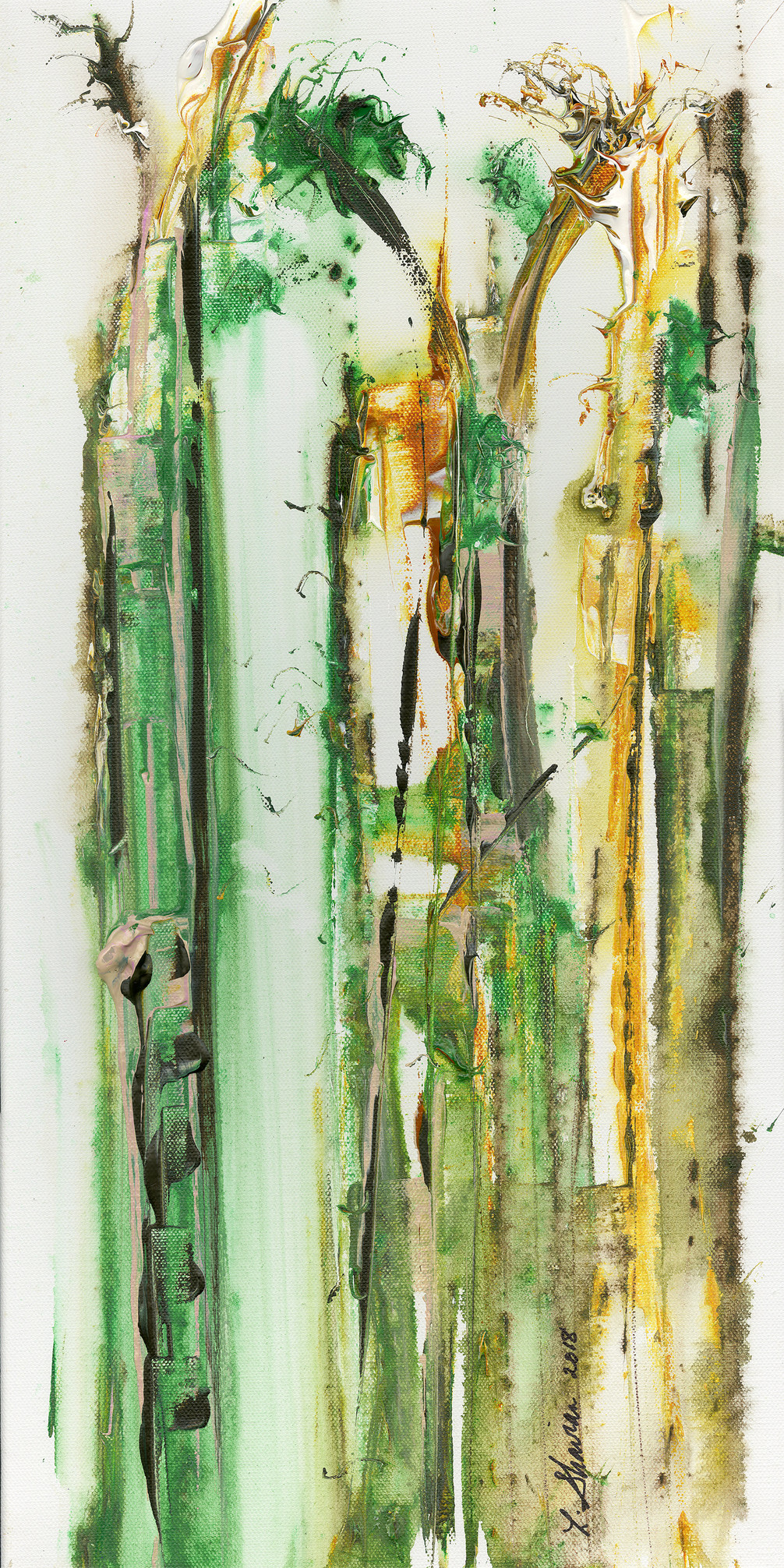"A Walk Through the Southern Forest 18""w x 36"" h  $600"