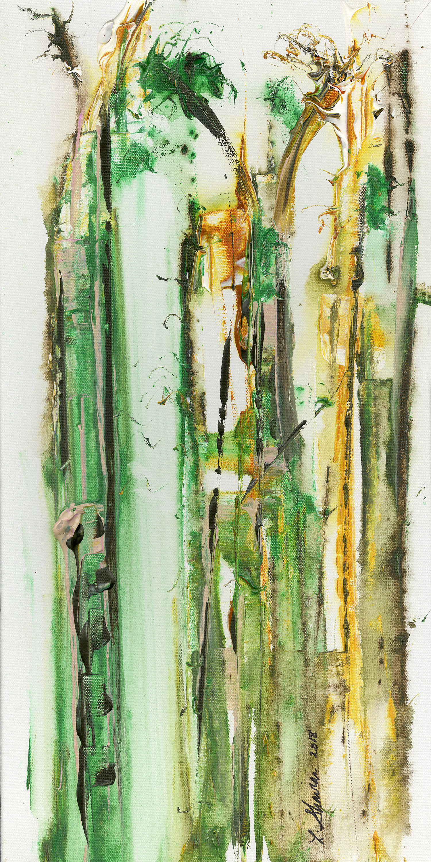 """A Walk Through the Southern Forest 18""""w x 36"""" h  $600"""