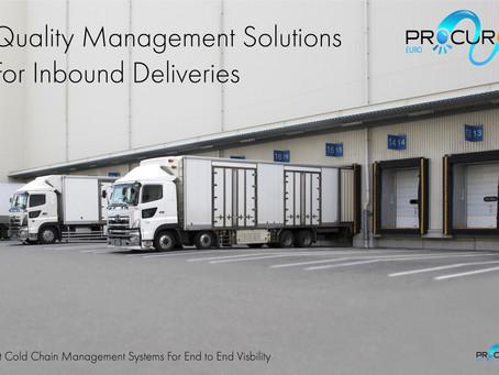 Quality Management Solution For Inbound Deliveries