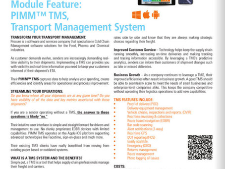Check Out Our TMS & POD Article in the TCS&D September/October issue