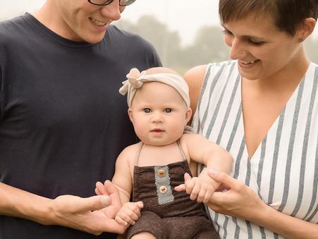 Lake Country Family Photographer | 6 Month Milestone Glimpse