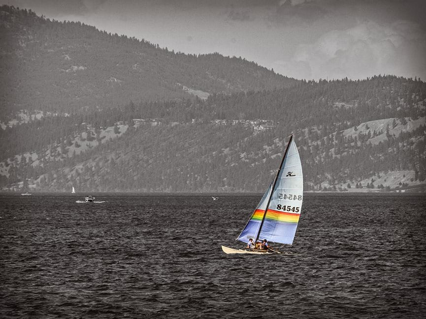 Okanagan Lake Sailboat