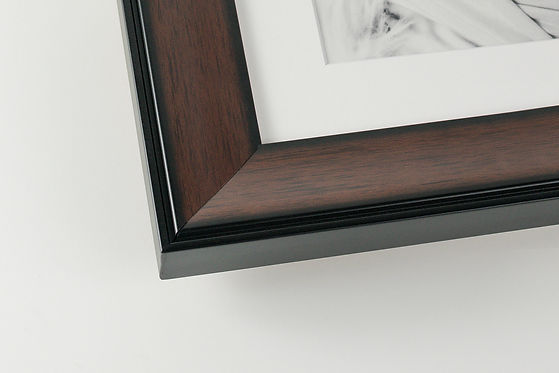 walnut wood brown picture frame corner
