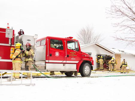 Thompson-Okanagan Photographer - Barriere Volunteer Fire Department's Training Day