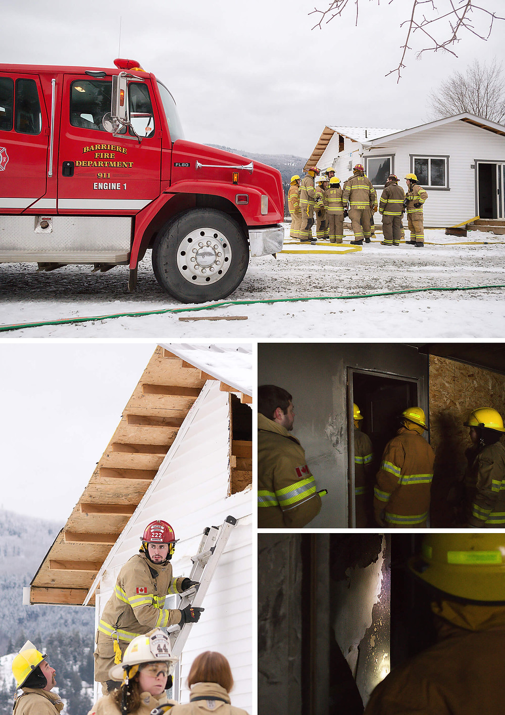 Barriere Fire Department training day