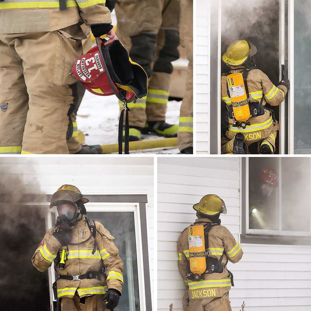 Barriere Volunteer Fire Department training day