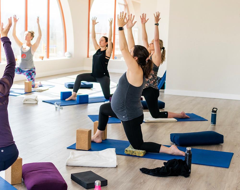 Prenatal Yoga Class in Kelowna lead by Mandala Mamas