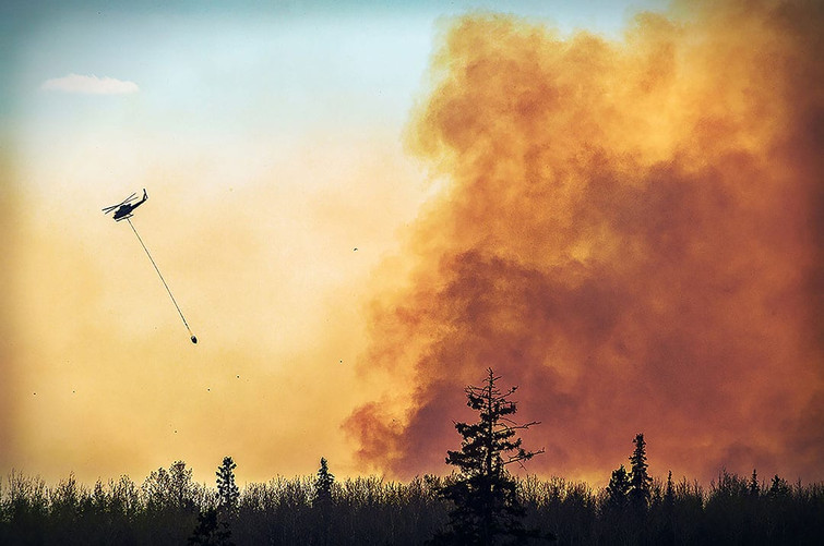Fort McMurray Fire 2016 Helicopters